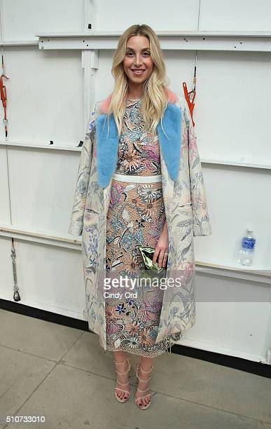 TV personality Whitney Port attends the Georgine Fall 2016 fashion show during New York Fashion Week The Shows at The Gallery Skylight at Clarkson Sq...