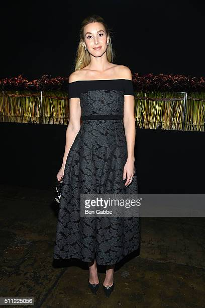TV personality Whitney Port attends the J Mendel fashion show during Fall 2016 New York Fashion Week at Cedar Lake on February 18 2016 in New York...