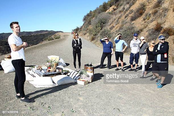 Personality Whitney Port Tim Rosenman and CoFounder of Allbirds Tim Brown Hike with Allbirds and Friends on December 3 2016 in Los Angeles California