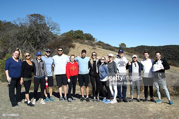 Personality Whitney Port Tim Rosenman Paige Port and CoFounder of Allbirds Tim Brown Hike with Allbirds and Friends on December 3 2016 in Los Angeles...