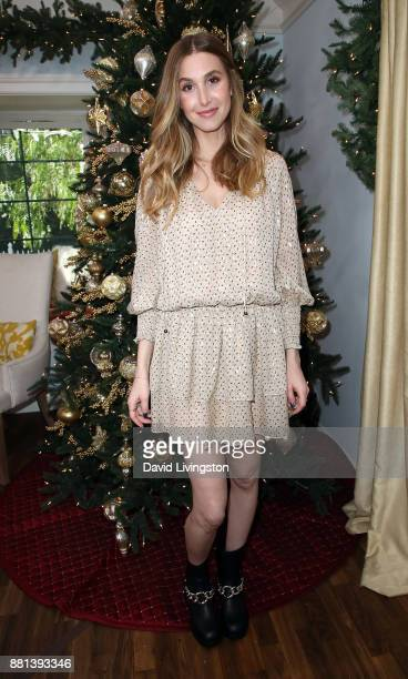 TV personality Whitney Port visits Hallmark's Home Family at Universal Studios Hollywood on November 28 2017 in Universal City California