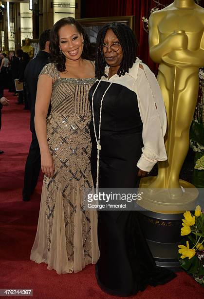 TV personality Whoopi Goldberg and daughter Alex Martin attend the Oscars held at Hollywood Highland Center on March 2 2014 in Hollywood California