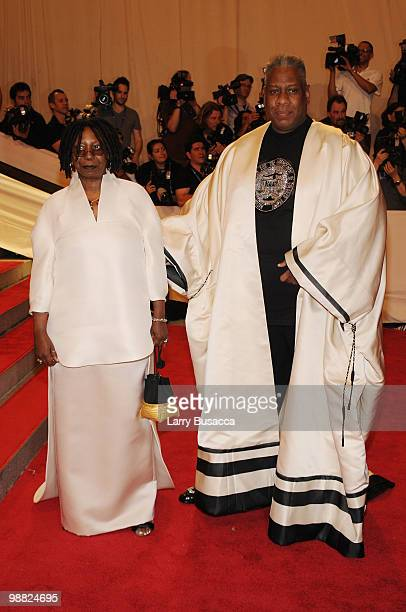 TV personality Whoopi Goldberg and EditoratLarge for Vogue Andre Leon Talley attend the Costume Institute Gala Benefit to celebrate the opening of...