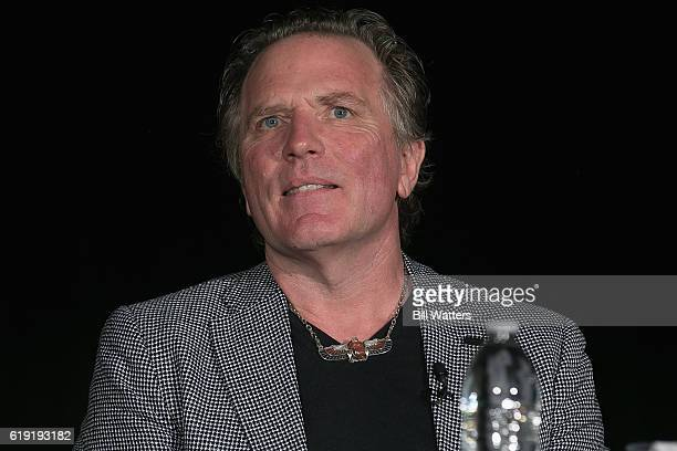 TV personality William Henry speaks at the Ancient Aliens Alien Technology panel during Alien Con at the Santa Clara Convention Center on October 29...