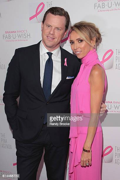 Personality Willie Geist poses with event host Giuliana Rancic during The Pink Agenda 2016 Gala arrivals at Three Sixty on October 13 2016 in New...