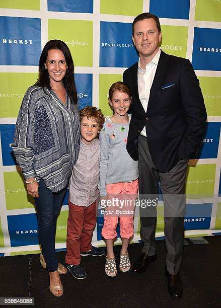 TV personality Willie Geist with wife Christina Geist and their children attend Jessica and Jerry Seinfeld host GOOD Foundation's 2016 Bash Sponsored...