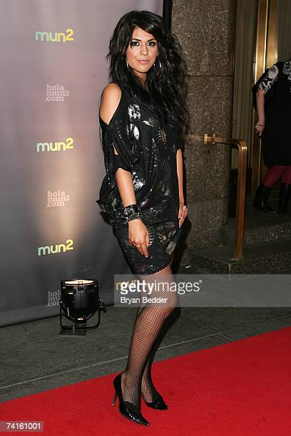 TV personality Yasmin Deliz arrives at the Telemundo 2007 Upfront presentation at Radio City Music Hall May 15 2007 in New York City