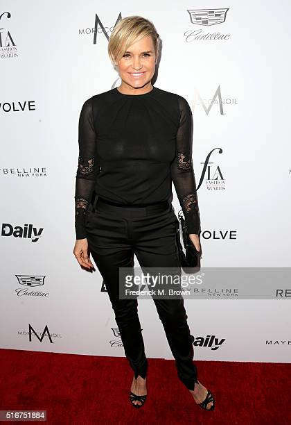 TV personality Yolanda Hadid attends the Daily Front Row Fashion Los Angeles Awards at Sunset Tower Hotel on March 20 2016 in West Hollywood...