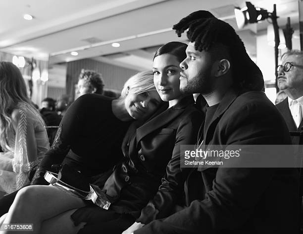 EXCLUSIVE COVERAGE TV personality Yolanda Hadid model Bella Hadid and singer The Weeknd in the audience during The Daily Front Row 'Fashion Los...