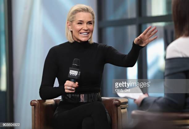 Personality Yolanda Hadid visits Build Studio on January 10, 2018 in New York City.