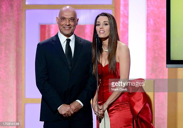 TV personality Yossi Dina and actress Cory Oliver speak onstage during Broadcast Television Journalists Association's third annual Critics' Choice...