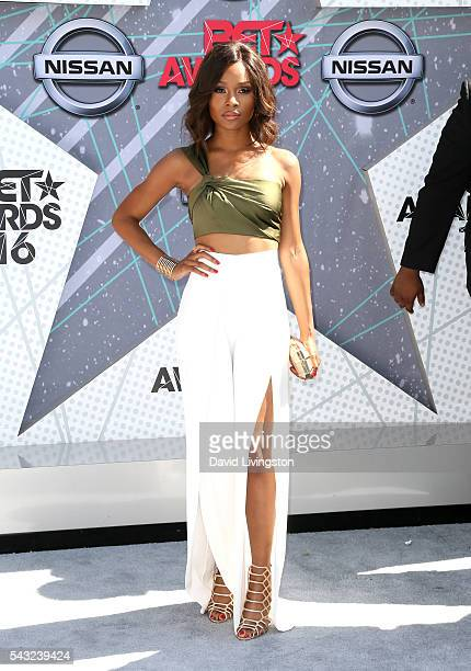 TV personality Zuri Hall attends the 2016 BET Awards at Microsoft Theater on June 26 2016 in Los Angeles California