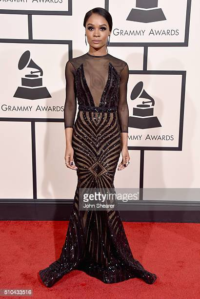 TV personality Zuri Hall attends The 58th GRAMMY Awards at Staples Center on February 15 2016 in Los Angeles California