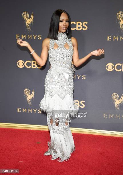 Personality Zuri Hall attends the 69th Annual Primetime Emmy Awards at Microsoft Theater on September 17 2017 in Los Angeles California