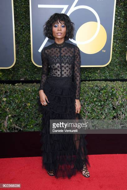 TV personality Zuri Hall attends The 75th Annual Golden Globe Awards at The Beverly Hilton Hotel on January 7 2018 in Beverly Hills California