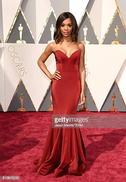 TV personality Zuri Hall attends the 88th Annual Academy Awards at Hollywood Highland Center on February 28 2016 in Hollywood California