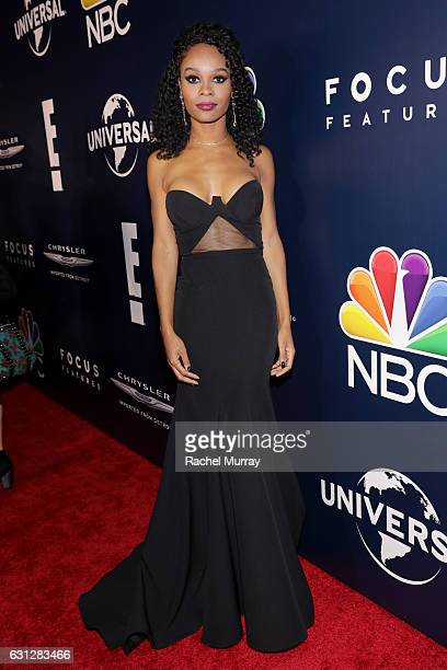 TV personality Zuri Hall attends the Universal NBC Focus Features E Entertainment Golden Globes after party sponsored by Chrysler on January 8 2017...