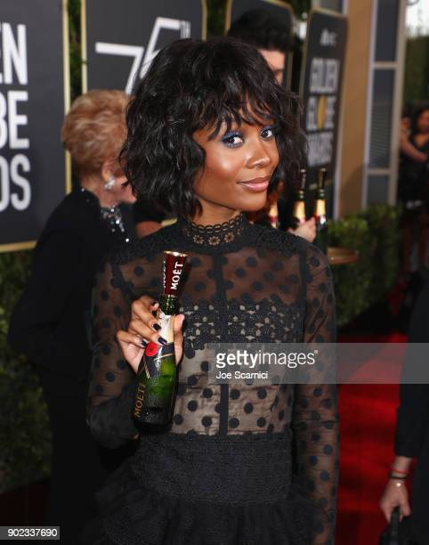 TV personality Zuri Hall celebrates The 75th Annual Golden Globe Awards with Moet Chandon at The Beverly Hilton Hotel on January 7 2018 in Beverly...