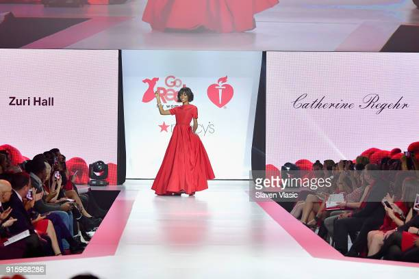 TV personality Zuri Hall walks the runway during the American Heart Association's Go Red For Women Red Dress Collection 2018 presented by Macy's at...