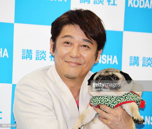 Personality/Actor Shinobu Sakagami holds a press conference to promote his new photo book on June 13 2015 in Tokyo Japan