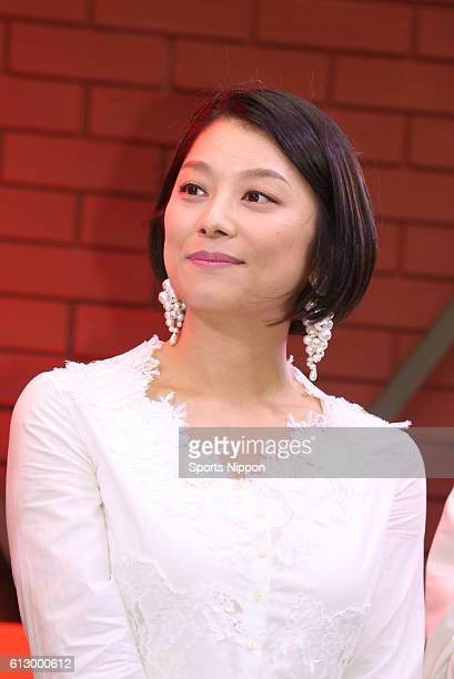 TV personality/actress Eiko Koike attends the 'Crazy Journey' DVD launch promotional event on May 3 2016 in Tokyo Japan