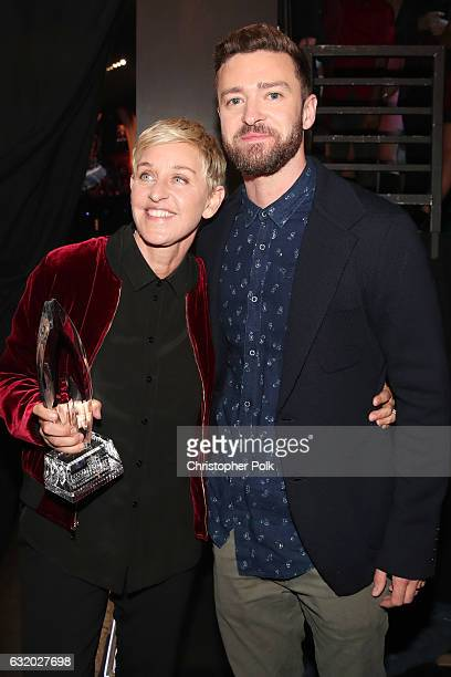 TV personality/actress Ellen DeGeneres winner of the awards for Favorite Animated Movie Voice for 'Finding Dory' as Dory Favorite Daytime TV Host and...