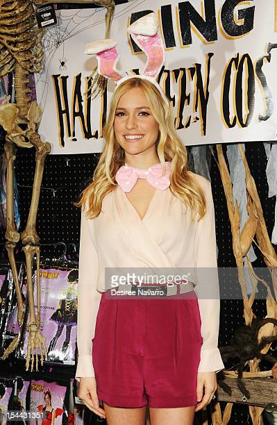 Personality/actress Kristin Cavallari attends The Bing It On Halloween Costume Challenge at Spirit Halloween on October 19 2012 in New York City
