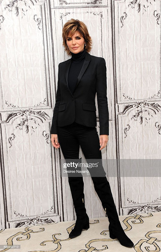 TV personality/actress Lisa Rinna attends AOL Build Presents: Lisa Rinna of 'Real Housewives of Beverly Hills' at AOL Studios In New York on December 8, 2015 in New York City.