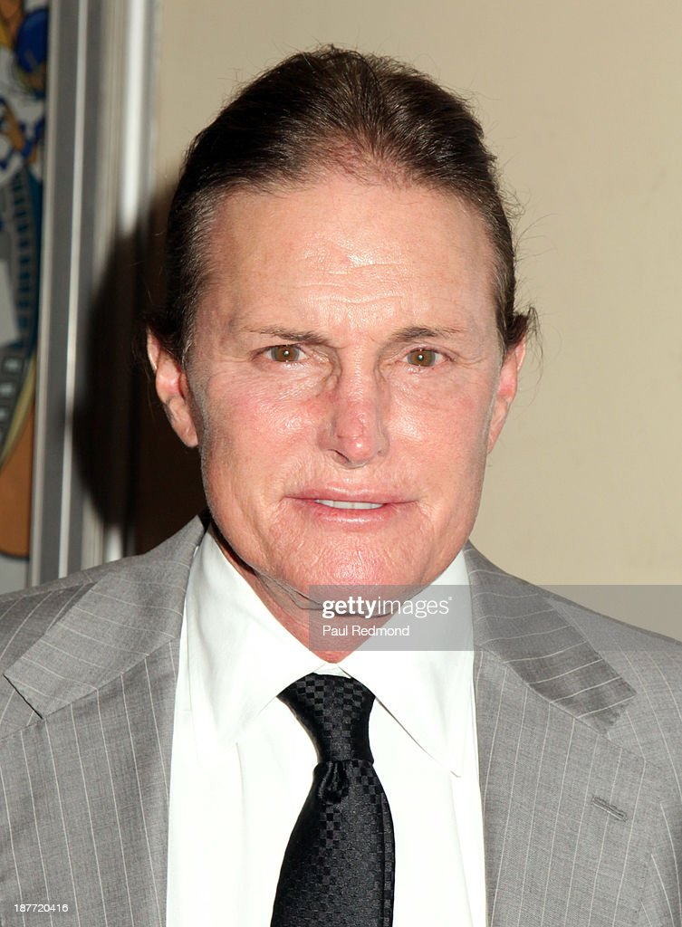 TV personality/athlete Bruce Jenner arrives at the All Sports Film Festival closing ceremony honoring Bruce Jenner at El Portal Theatre on November 11, 2013 in North Hollywood, California.
