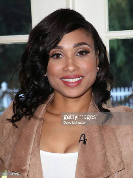 TV personality/chef Elise Wims visits Hallmark's 'Home Family' at Universal Studios Hollywood on November 6 2017 in Universal City California