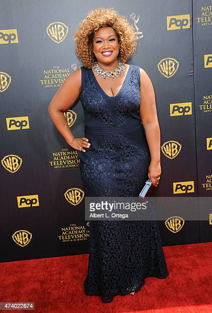 personality/chef Sunny Anderson arrives for The 42nd Annual Daytime Emmy Awards held at Warner Bros Studios on April 26 2015 in Burbank California
