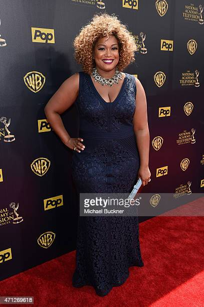 TV personality/chef Sunny Anderson attends The 42nd Annual Daytime Emmy Awards at Warner Bros Studios on April 26 2015 in Burbank California