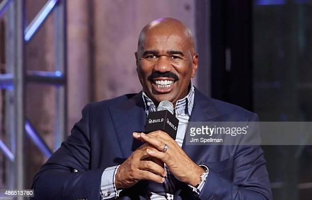TV personality/comedian Steve Harvey attends the AOL BUILD Speaker Series Steve Harvey at AOL Studios In New York on September 4 2015 in New York City