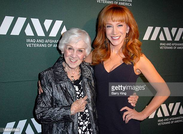 TV personality/comedienne Kathy Griffin and her mom Maggie Griffin attend the Iraq And Afghanistan Veterans Of America's 5th Annual Heroes...