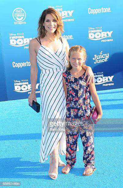 TV personality/dancer Allison Holker and daughter Weslie Fowler attend the world premiere of DisneyPixar's 'Finding Dory' at the El Capitan Theatre...