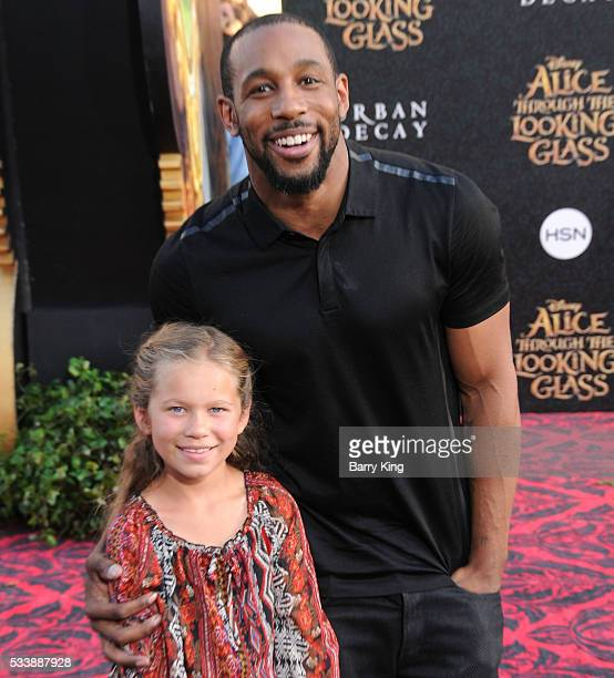 TV personality/dancer Stephen 'tWitch' Boss and daughter Weslie Fowler attend the premiere of Disney's' 'Alice Through The Looking Glass' at the El...