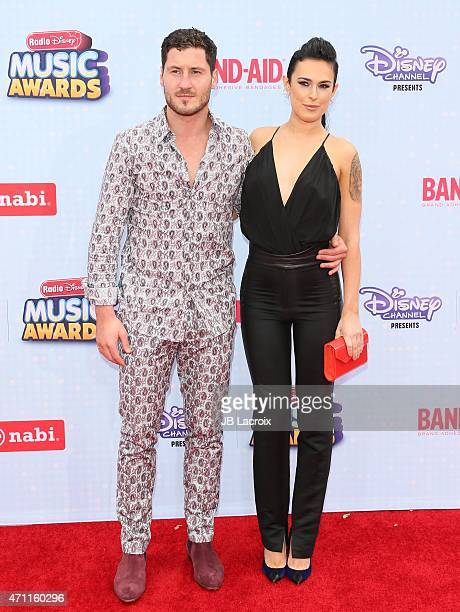 TV personality/dancer Valentin Chmerkovskiy and actress Rumer Willis attend the 2015 Radio Disney Music Awards at Nokia Theatre LA Live on April 25...