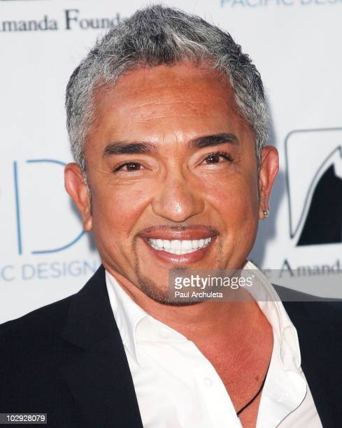 """Personality/Dog behaviorist Cesar Millan arrives at the """"Patterns For Paws"""" charity doggy fashion show at Pacific Design Center on July 15, 2010 in..."""