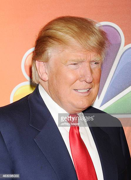 TV personality/entrepreneur Donald Trump attends the NBCUniversal 2015 Press Tour at the Langham Huntington Hotel on January 16 2015 in Pasadena...