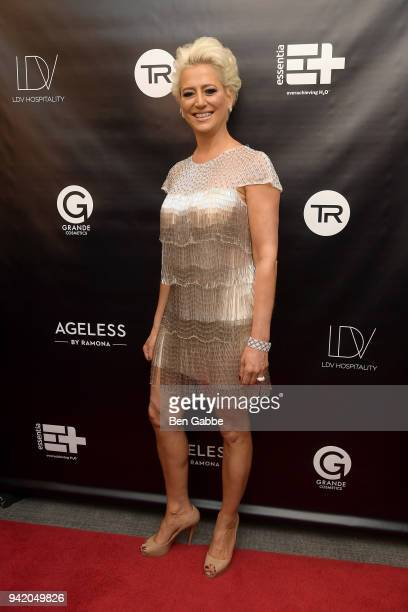 TV personality/entrepreneur Dorinda Medley attends The Real Housewives of New York Season 10 Premiere Viewing Party at The Seville on April 4 2018 in...