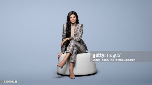 TV personality/entrepreneur Kylie Jenner is photographed for Forbes Magazine on March 6 2019 in New York City CREDIT MUST READ Jamel Toppin/The...