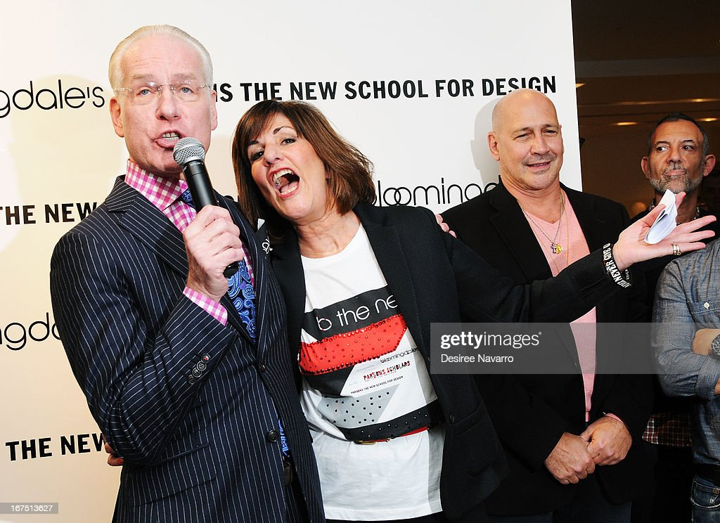 TV Personality/fashion consultant Tim Gunn and fashion designer Kay Unger attend Bloomingdale's: b the next at Bloomingdale's on April 25, 2013 in New York City.