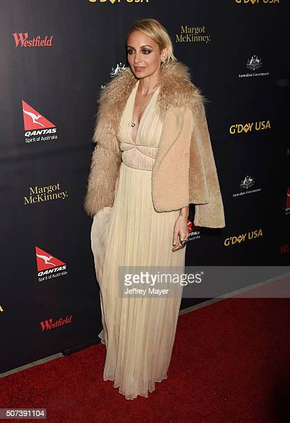 TV personality/fashion designer Nicole Richie arrives at the 2016 G'Day Los Angeles Gala at Vibiana on January 28 2016 in Los Angeles California