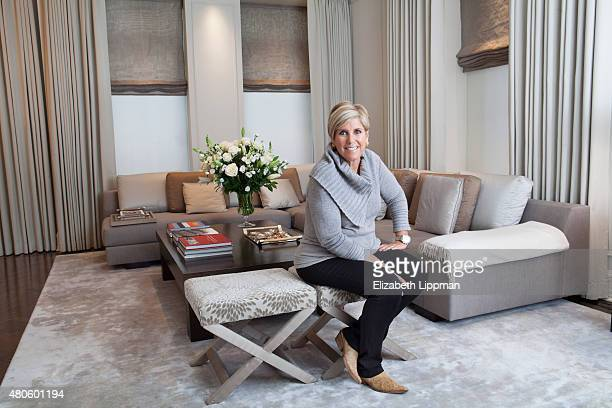 TV personality/finance adviser Suze Orman is photographed for Wall Street Journal on October 30 2014 at home in her Plaza apartment in New York City