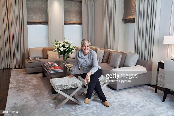 TV personality/finance adviser Suze Orman is photographed for Wall Street Journal on October 30 2014 at home in her Plaza apartment in New York City...