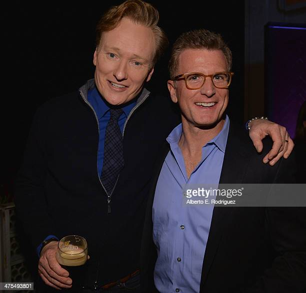 Personality/Honoree Conan O'Brien and Chairman of Entertainment for Fox Broadcasting Kevin Reilly attend the 9th Annual Oscar Wilde Honoring The...