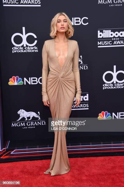 TV personalitymodel Hailey Baldwin attends the 2018 Billboard Music Awards 2018 at the MGM Grand Resort International on May 20 in Las Vegas Nevada