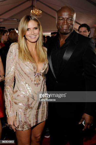 TV personality/model Heidi Klum and husband musician Seal arrive at the 52nd Annual GRAMMY Awards held at Staples Center on January 31 2010 in Los...