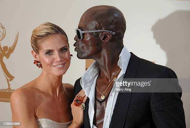 TV personality/model Heidi Klum and singer Seal arrive at the 63rd Primetime Emmy Awards held at Nokia Theatre LA Live on September 18 2011 in Los...