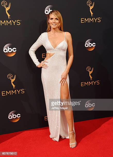 TV personality/model Heidi Klum arrives at the 68th Annual Primetime Emmy Awards at Microsoft Theater on September 18 2016 in Los Angeles California